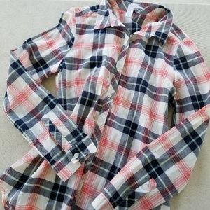 Abound Long Sleeved Plaid Button Down
